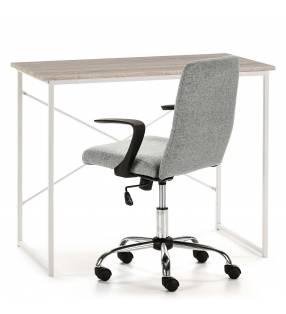 Pack Silla Teo gris claro + escritorio Caceres blanco TopMueble 2