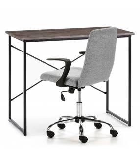 Pack Silla Teo gris claro + escritorio Caceres negro TopMueble