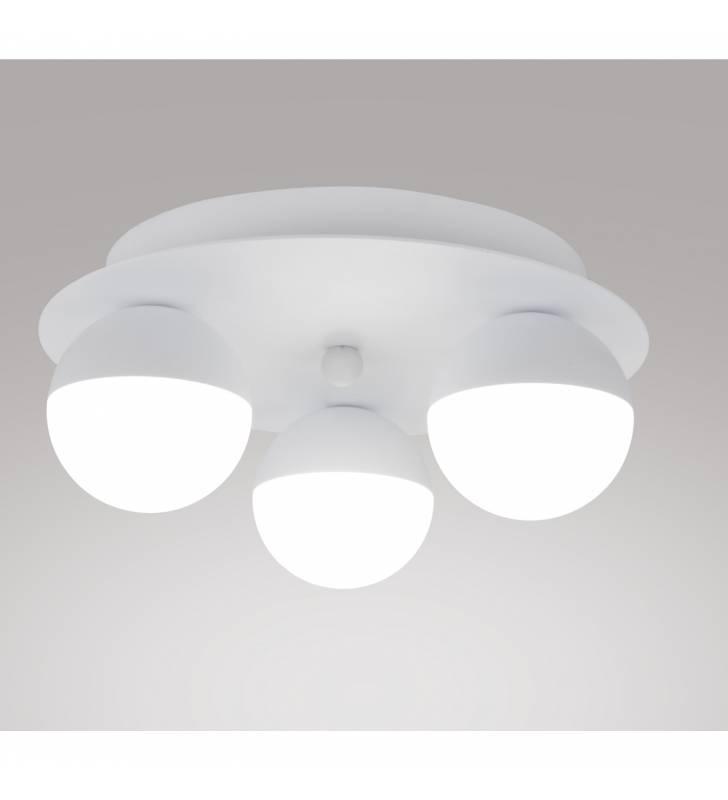 Lámpara de Techo 220-3 en Aluminio y Acrílico blanco Topmueble