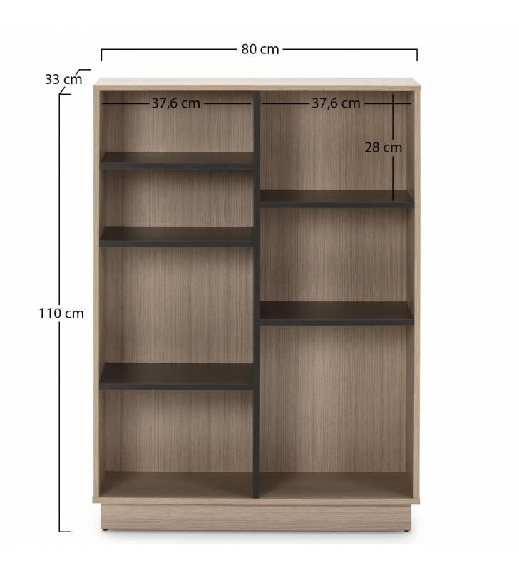 Estantería Librería Vitoria 110x80cm TopMueble 6