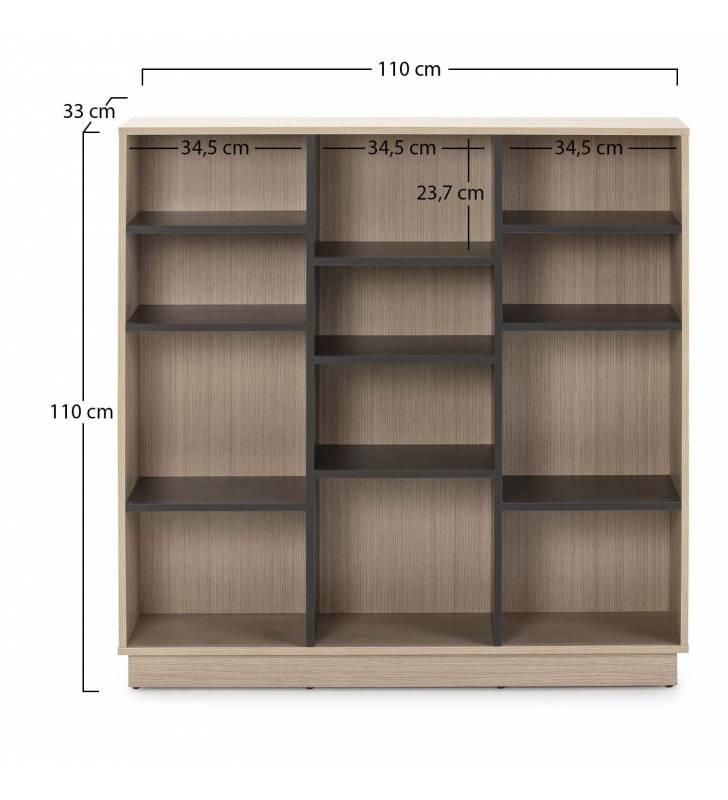 Estantería Librería Vitoria 110x110cm TopMueble 3