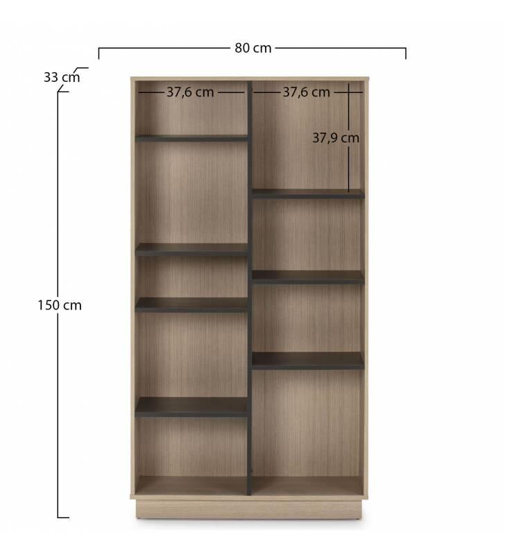 Estantería Librería Vitoria 150x80cm TopMueble 3