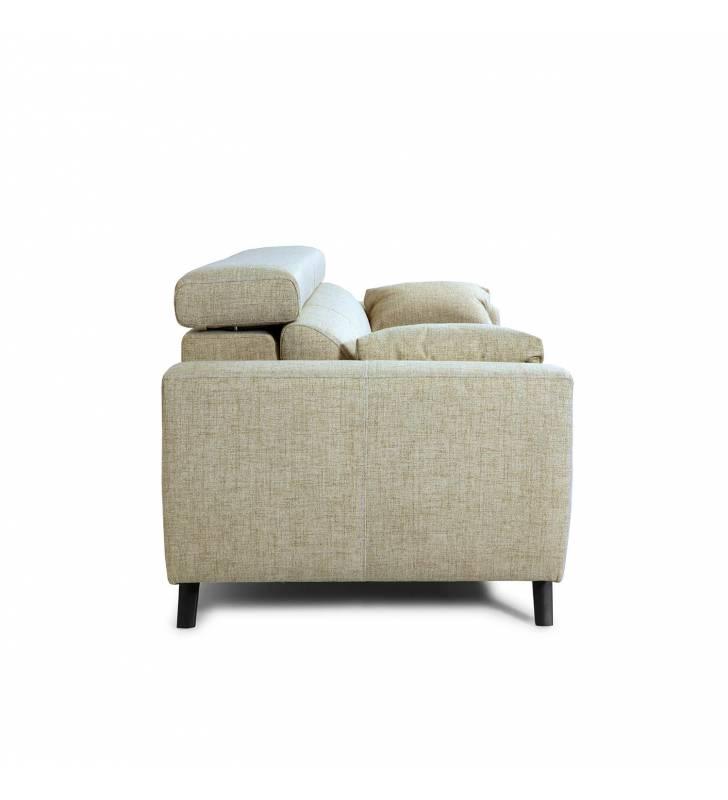 Sofá de 2 Plazas Cerdeña tapizado en tela Aura Arena TopMueble 4
