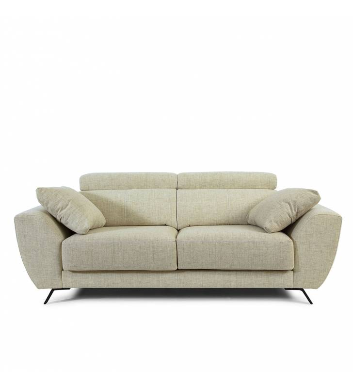 Sofá de 2 Plazas Cerdeña tapizado en tela Aura Arena TopMueble 2