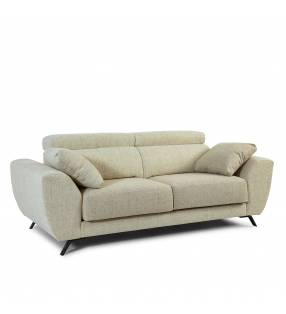Sofá de 2 Plazas Cerdeña tapizado en tela Aura Arena TopMueble