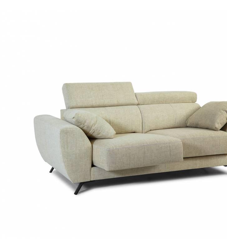 Sofá de 2 Plazas Cerdeña tapizado en tela Aura Arena TopMueble 3