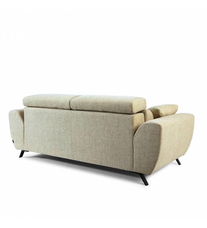Sofá de 2 Plazas Cerdeña tapizado en tela Aura Arena TopMueble 5