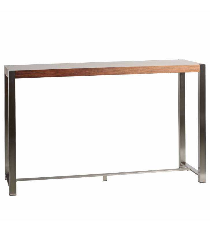 Mesa de bar Jessey  color Nogal Topmueble 3