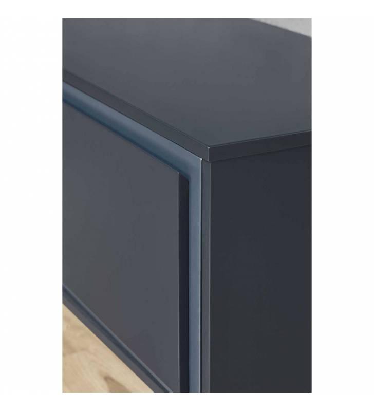 Mueble TV Forma 3 puertas Azul Oscuro 2 Topmueble