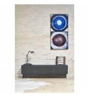 Mueble TV Forma 3 puertas Azul Oscuro Topmueble