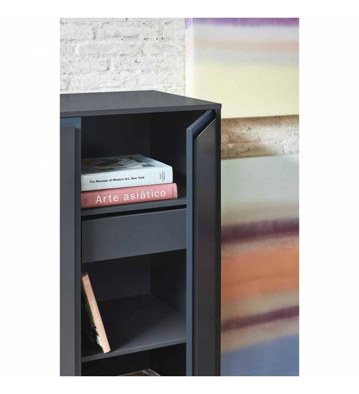 Mueble Auxiliar Forma negro Topmueble 2