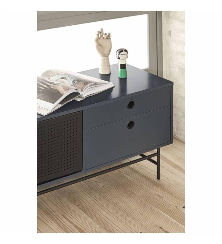 Mueble TV Punto Azul oscuro 2 Topmueble