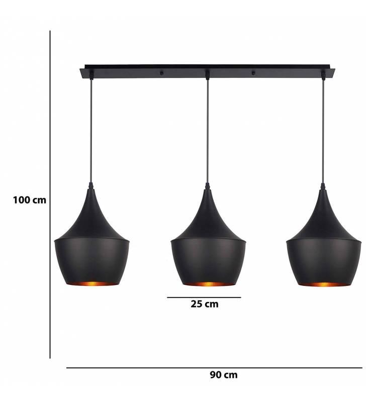 Lámpara Crux 3 negro Topmueble 1