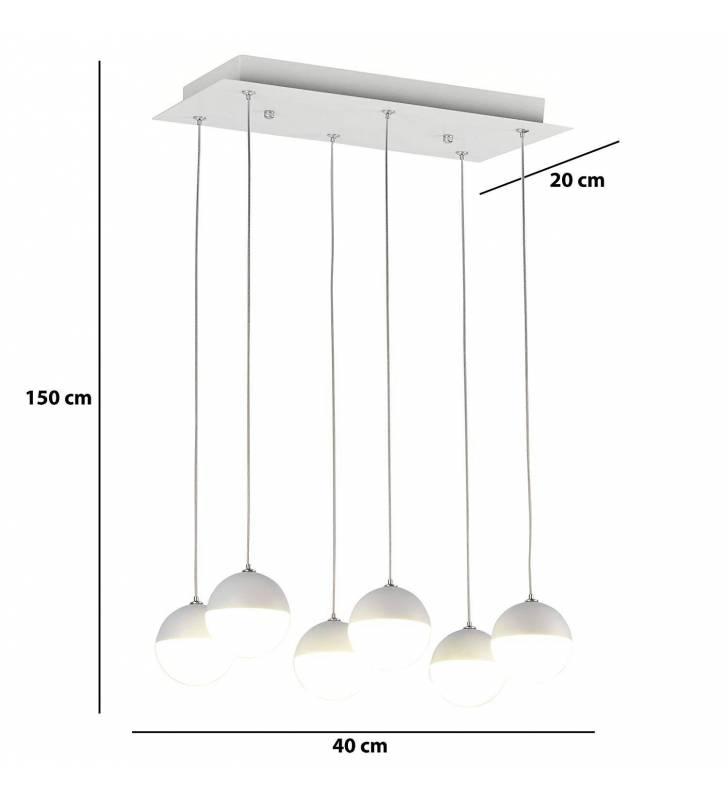 Lámpara rectangular Drac Blanco  Topmueble 3