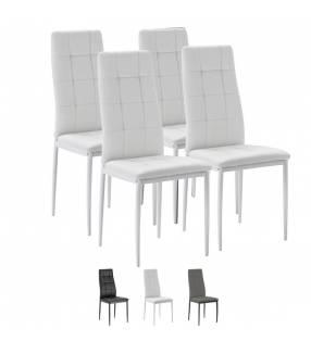 Pack 4 sillas Chelsea blanco Topmueble