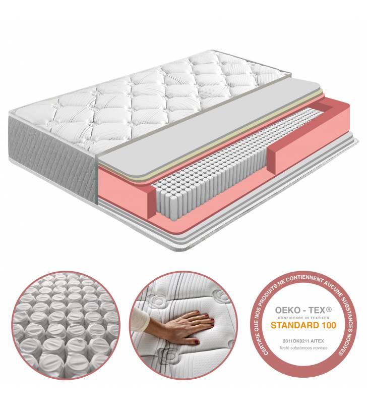Colchón Soft Confort de Muelle Ensacado 22cm 1 Topmueble