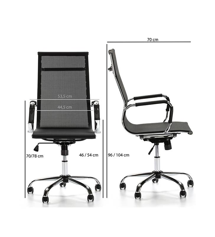 Sillón de Oficina Slim reclinable Negro 5 Topmueble