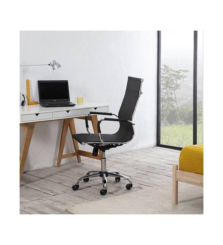 Sillón de Oficina Slim reclinable Negro Topmueble