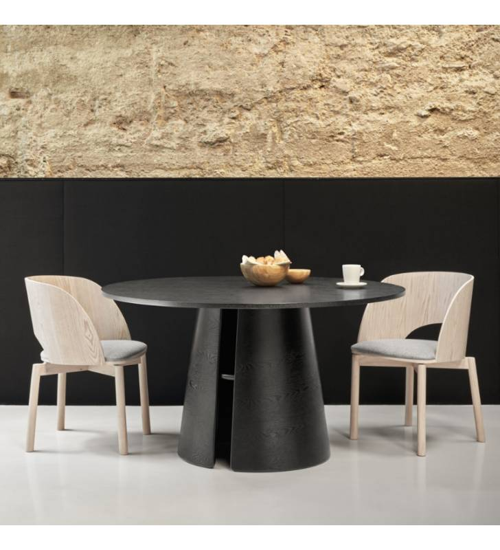 Mesa redonda CEP color negro Topmueble