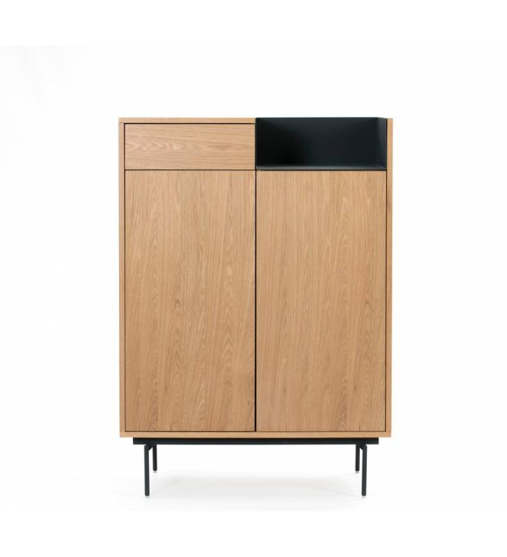 Mueble auxiliar Valley Roble/Azul oscuro Topmueble 2