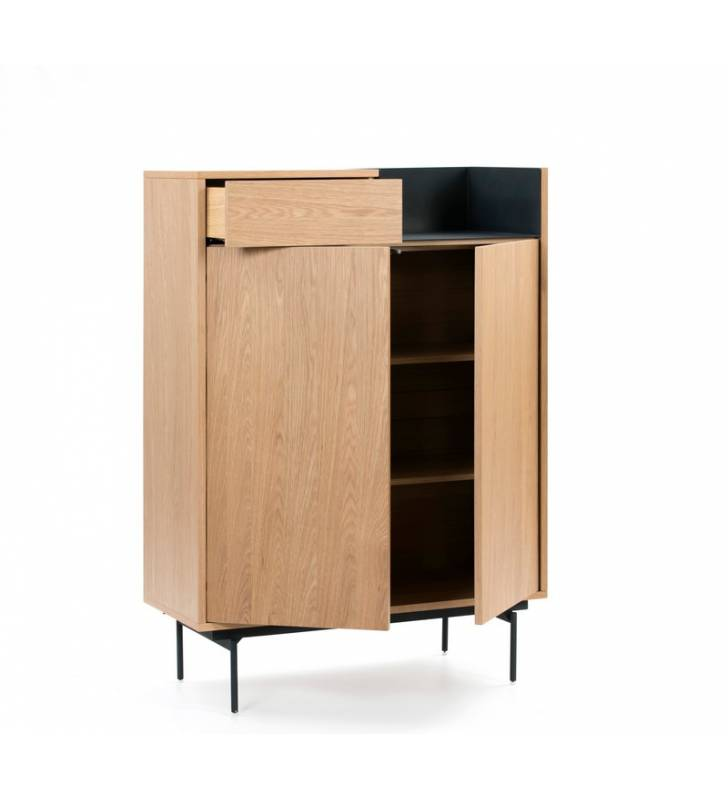 Mueble auxiliar Valley Roble/Azul oscuro Topmueble 3