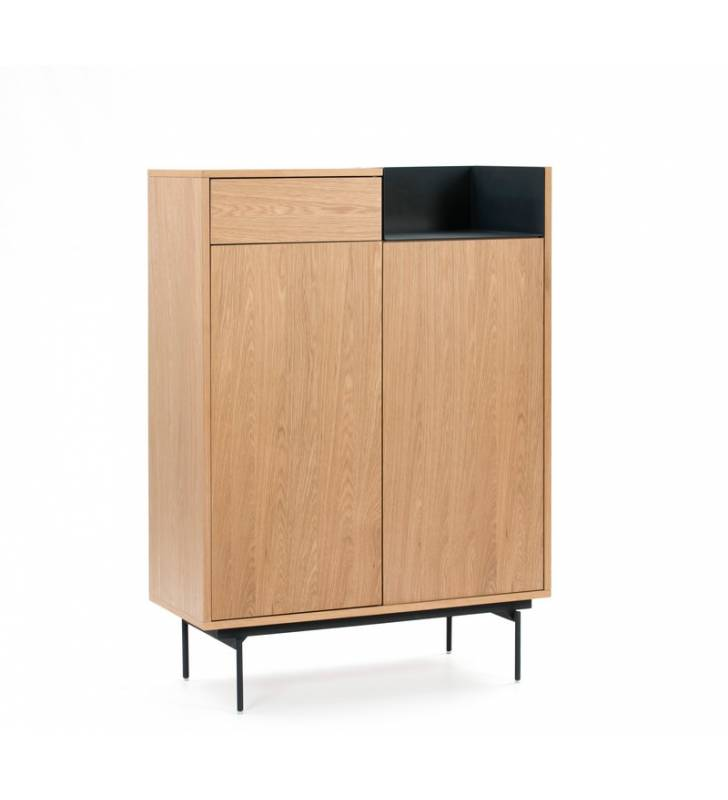 Mueble auxiliar Valley Roble/Azul oscuro Topmueble 1