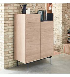 Mueble auxiliar Valley Roble/Azul oscuro Topmueble