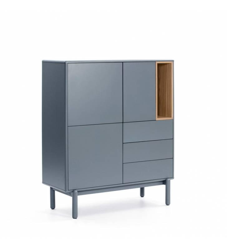 Mueble Auxiliar Corvo 3P3C gris perla Topmueble 1