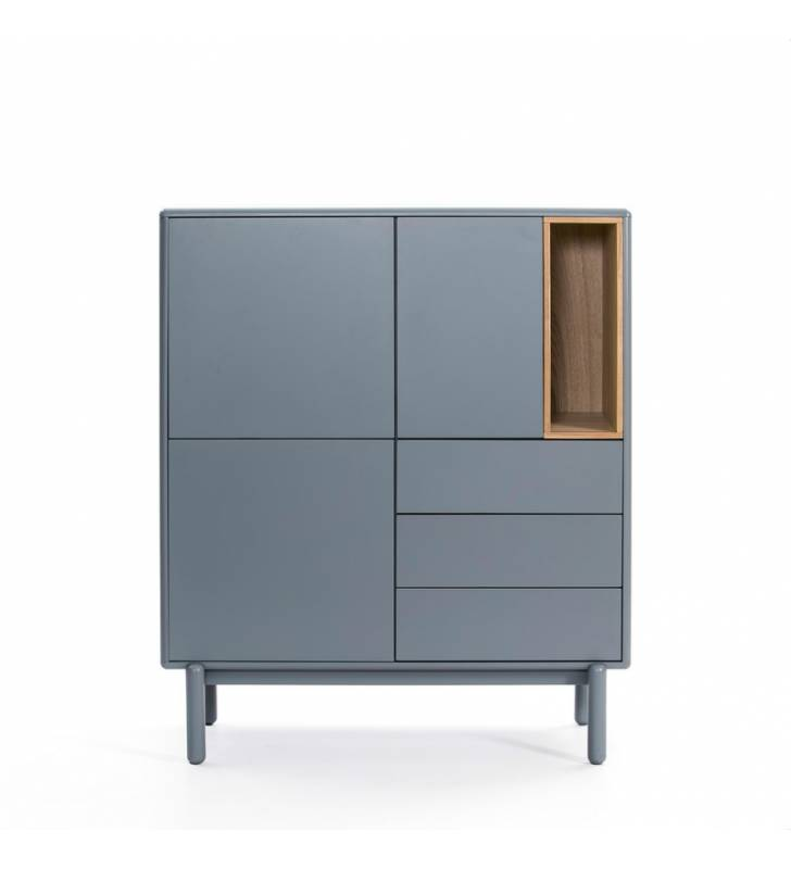 Mueble Auxiliar Corvo 3P3C gris perla Topmueble
