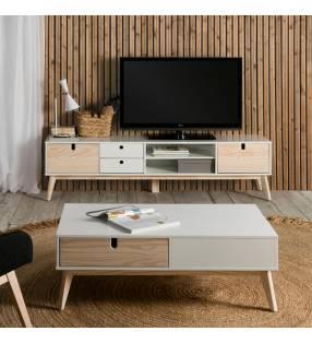 Mueble tv Kira Blanco ambiente Topmueble