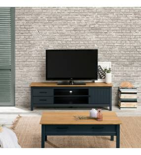 Mueble TV Mora Azul oscuro Topmueble
