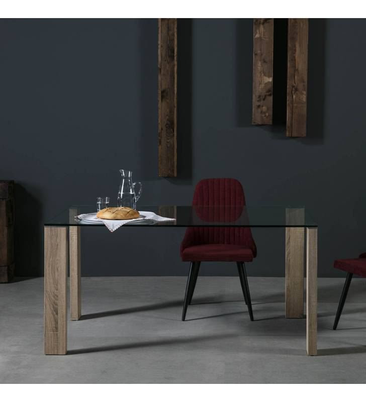 Mesa rectangular Turin Roble Topmueble