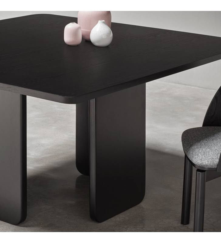 Mesa cuadrada ARQ color negro Topmueble 3