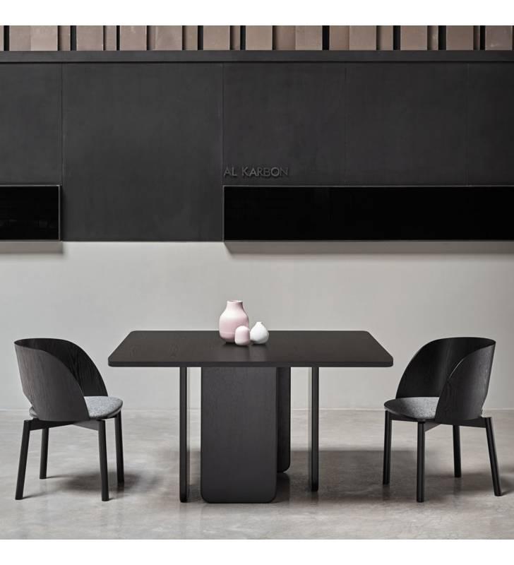 Mesa cuadrada ARQ color negro Topmueble