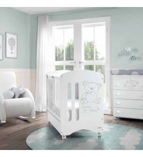 Cuna Sweet Bear color blanco Topmueble