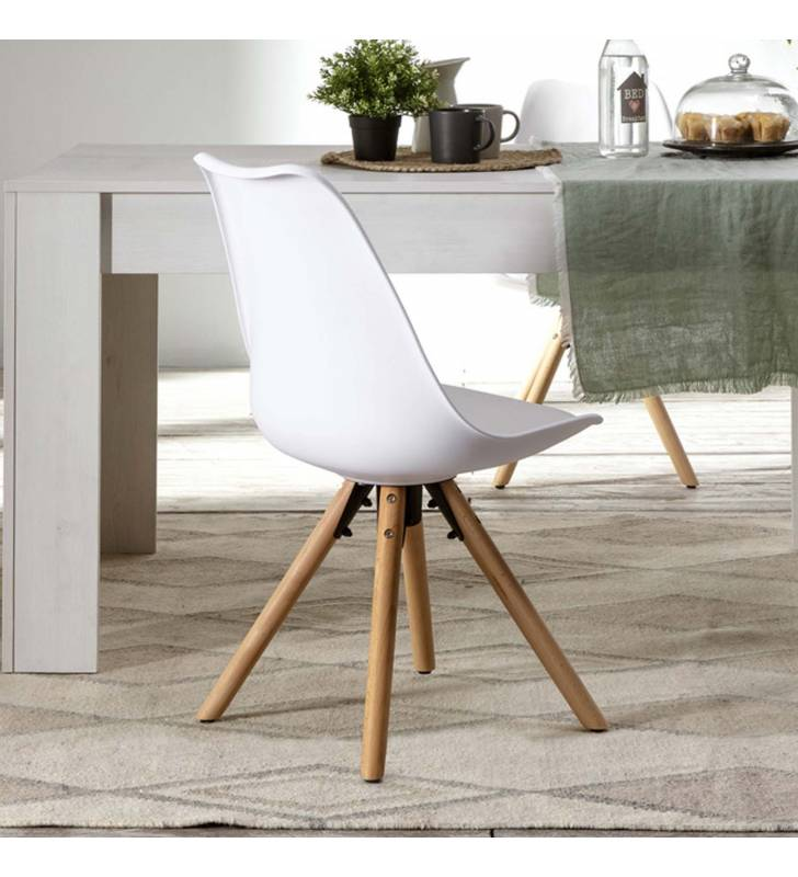 Silla Jeff color Blanco Topmueble