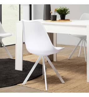 Silla Cross color blanco Topmueble