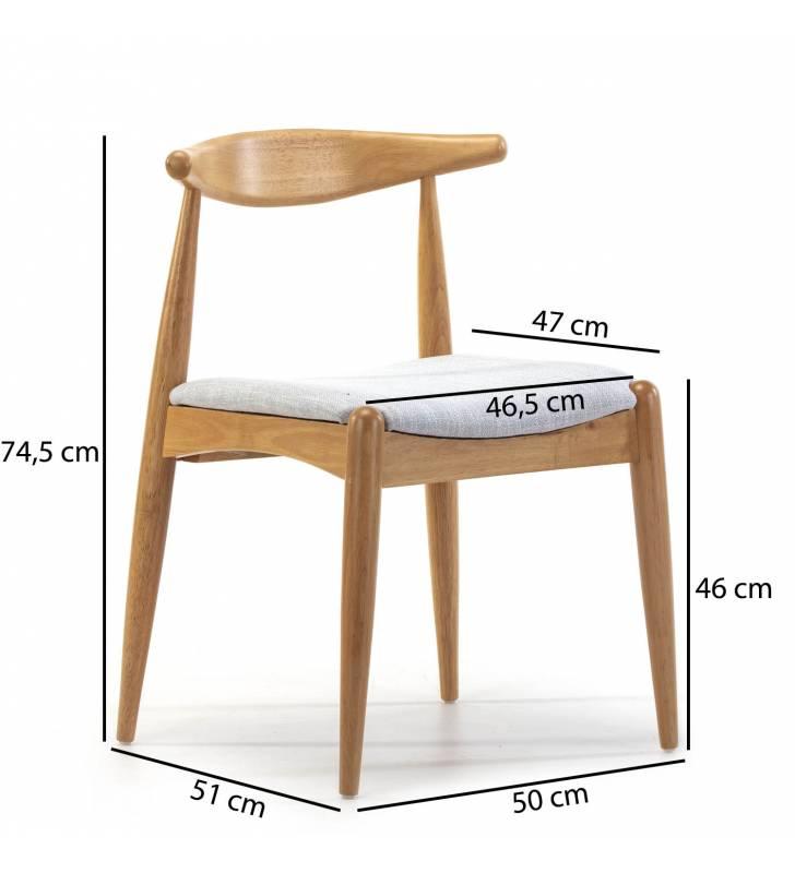 Pack de 2 sillas Corzo Roble Topmueble medidas