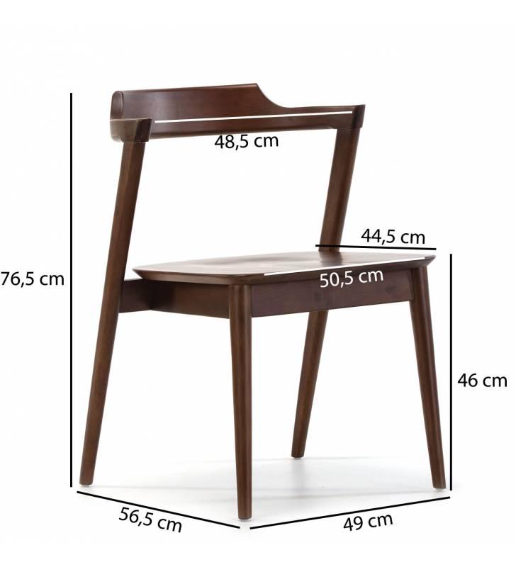 Pack de 2 sillas Venus Nogal Topmueble medidas