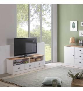 Mueble TV Denia 3C2H Blanco Topmueble