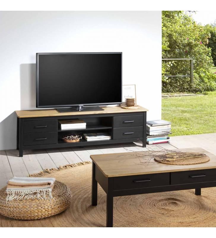 Mueble TV Valeria negro Topmueble