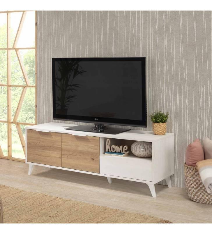 Mueble TV Koln 2P1C Blanco Topmueble 6