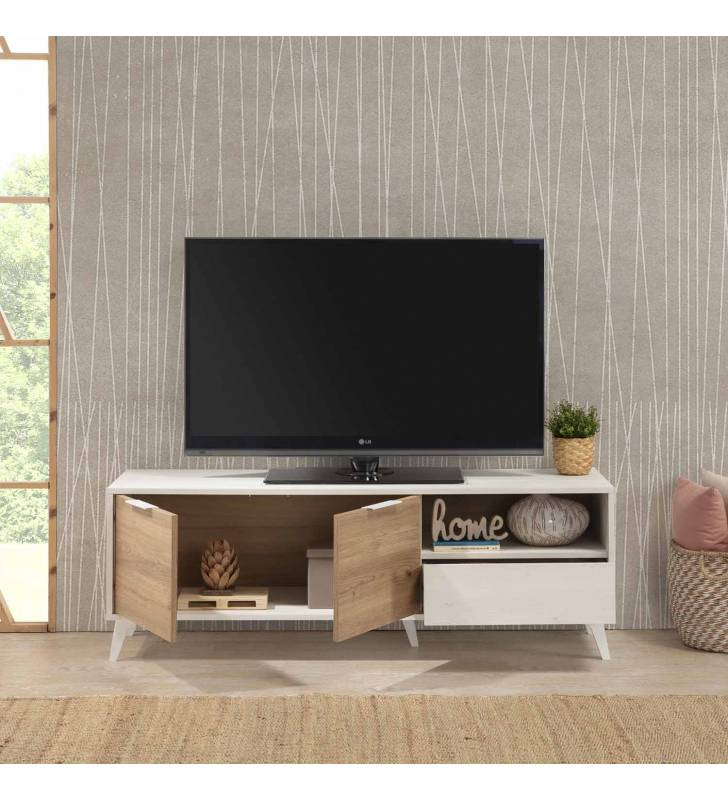 Mueble TV Koln 2P1C Blanco Topmueble 7