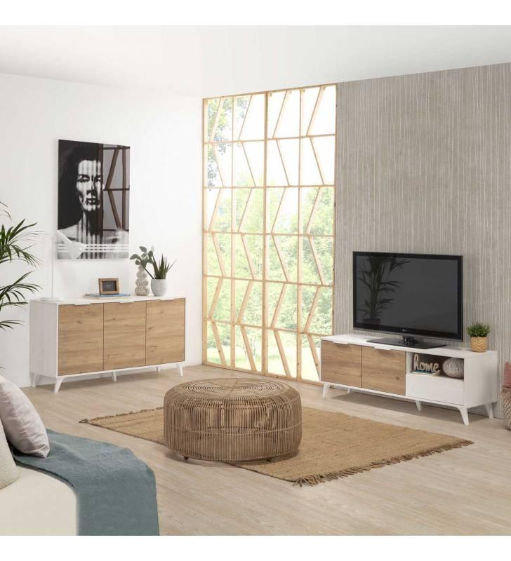 Mueble TV Koln 2P1C Blanco Topmueble 8