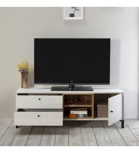 Mueble TV Játiva Blanco 2C y 1P Topmueble