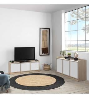 Pack muebles salón Montreal Roble/Blanco TopMueble 2