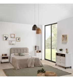 Pack Muebles dormitorio matrimonio Játiva Blanco 1
