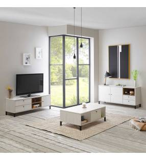 Pack muebles salón Játiva Blanco Nordic TopMueble 2