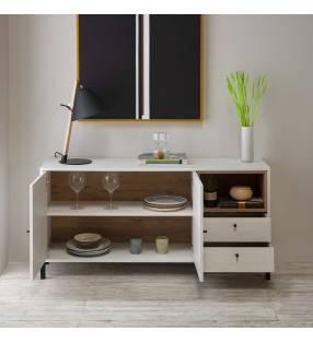 Pack muebles salón Játiva Blanco Nordic TopMueble
