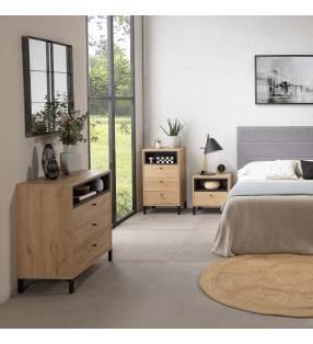 Pack Muebles dormitorio matrimonio Javea Natural 1